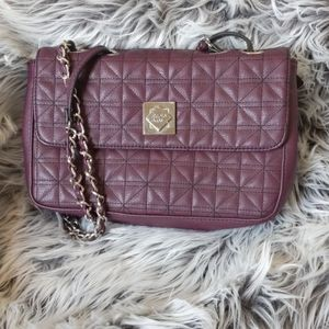 NWT Nicole Quilted Vegan Leather Shoulder Bag